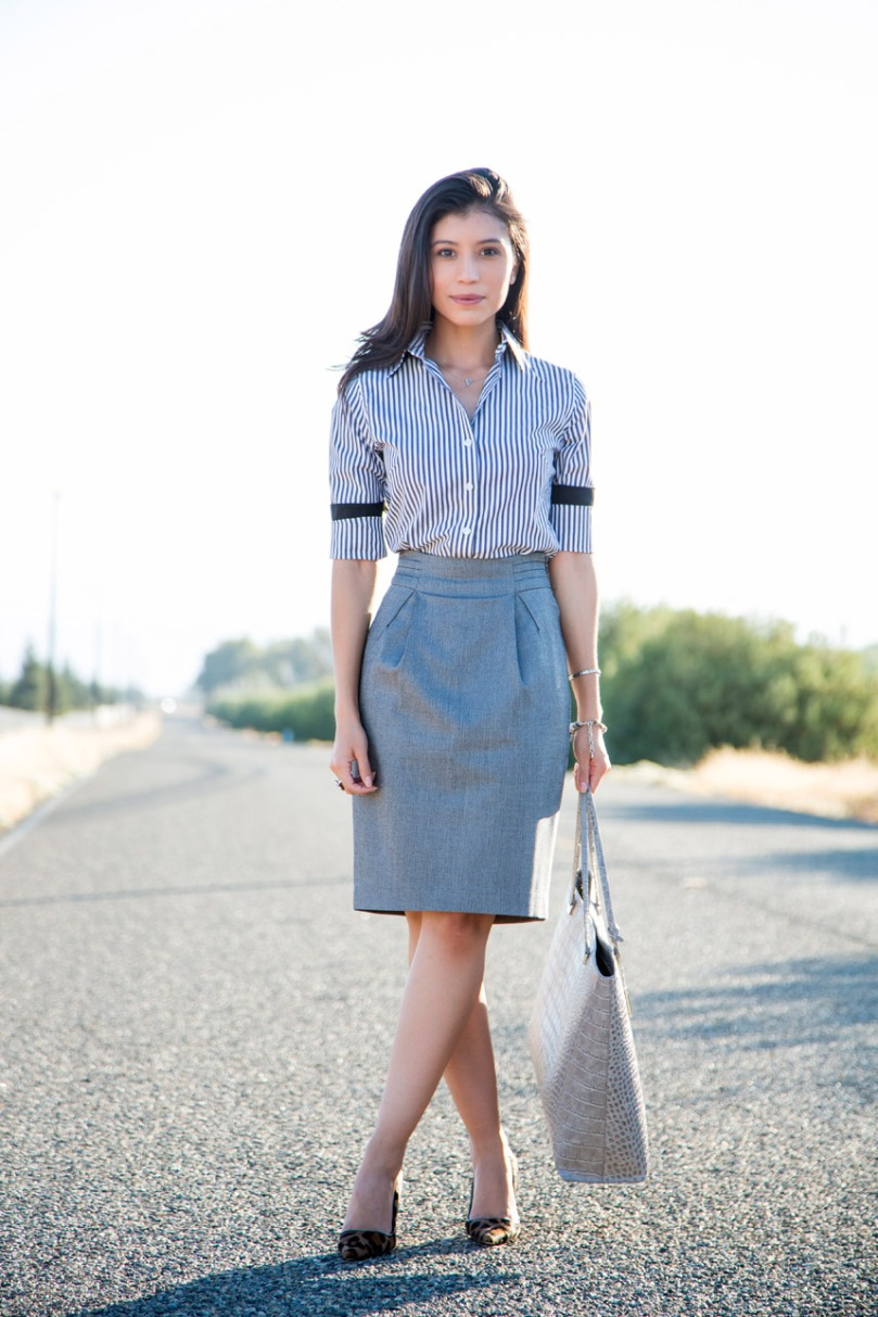what-shirt-to-wear-with-a-pencil-skirt